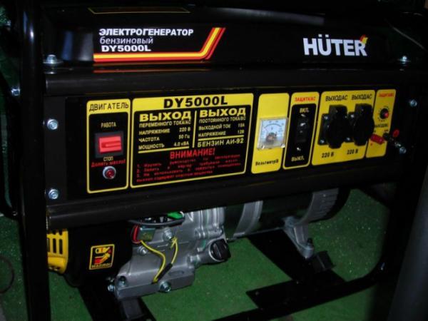 Бензиновый генератор huter dy5000l dy5000l
