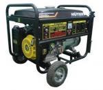 Бензиновый генератор HuterDY8000LX  с колесами